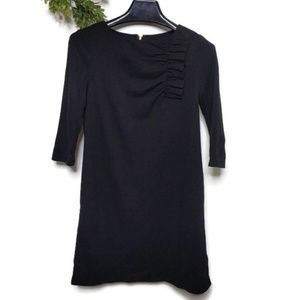Kate Spade Dress 6 Black Ruffle Detail LBD Shift C
